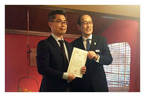 東京エリアコンテスト TOTO住宅リモデル部門 フェザー級・YKK AP部門受賞式の様子