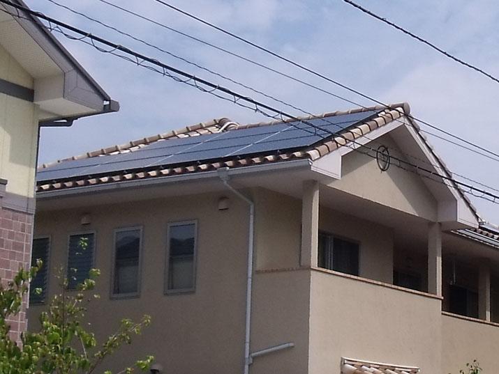 太陽光発電施工画像1【甲府市 G様邸】