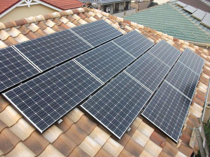 太陽光発電施工画像2【甲府市 G様邸】
