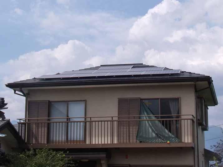 太陽光発電施工画像1【甲州市 S様邸】