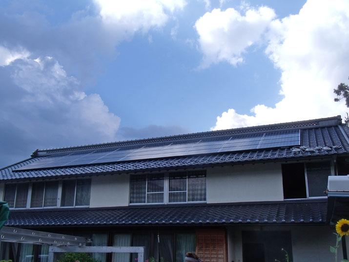 太陽光発電施工画像2【甲州市 A様邸】