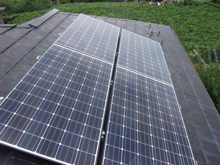 太陽光発電施工画像2【甲州市 S様邸】