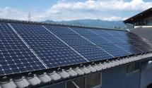 長州産業 太陽光パネル写真