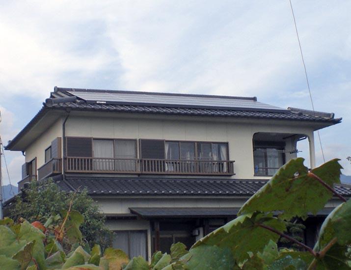 太陽光発電施工画像2【甲州市 H様邸】