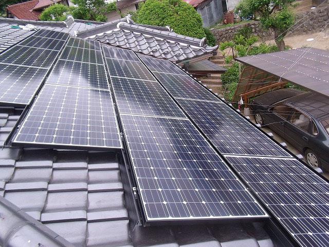 太陽光発電施工画像1【甲州市 H様邸】