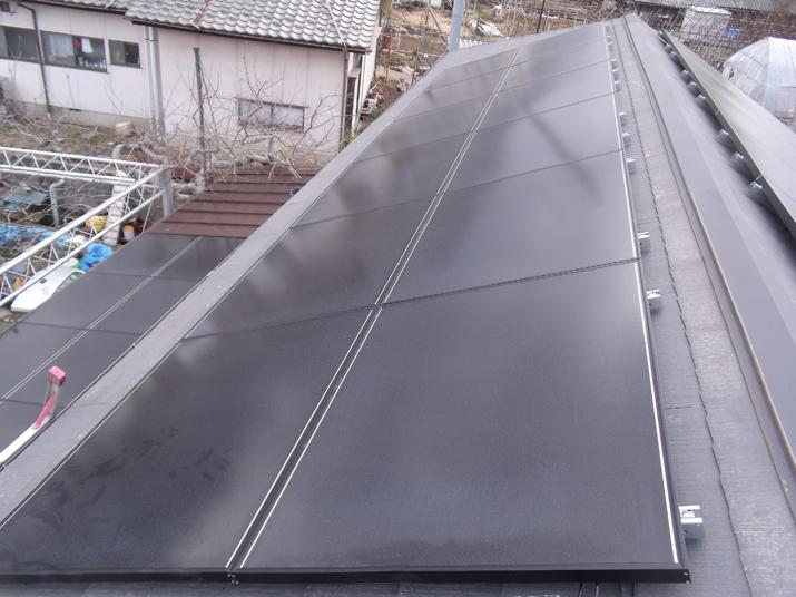 太陽光発電施工画像1【甲州市 K様邸】