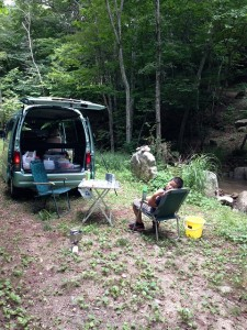 スタッフ松村のキャンプでの一枚