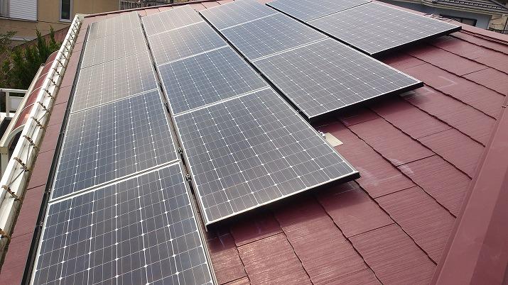 太陽光発電施工画像1【甲府市 M様邸】