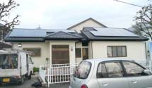 山梨県 昭和町太陽光(ソーラーフロンティア)設置後写真