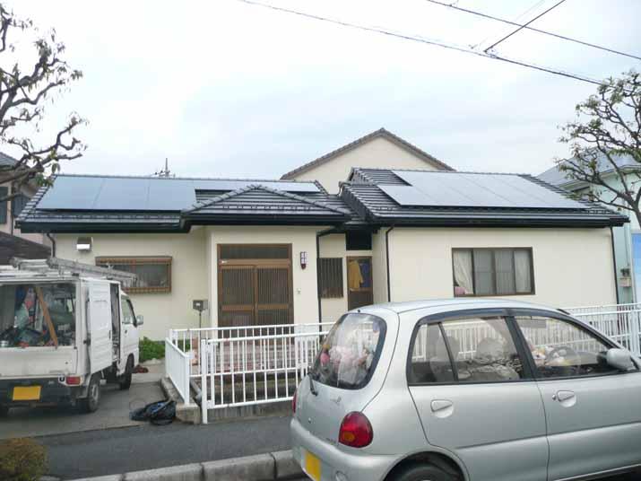 太陽光発電施工画像2【昭和町 A様邸】