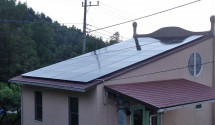 笛吹市 太陽光パネル設置後写真(ソーラーフロンティア)