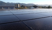 笛吹市太陽光パネル(ソーラーフロンティア)設置後写真