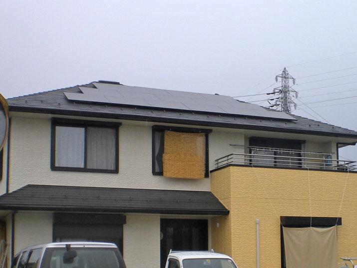 太陽光発電施工画像2【甲州市 M様邸】
