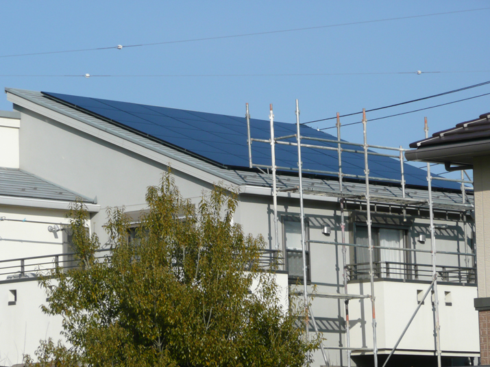 太陽光発電施工画像1【中央市 S様邸】