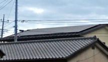山梨県甲府市 太陽光パネル設置後写真