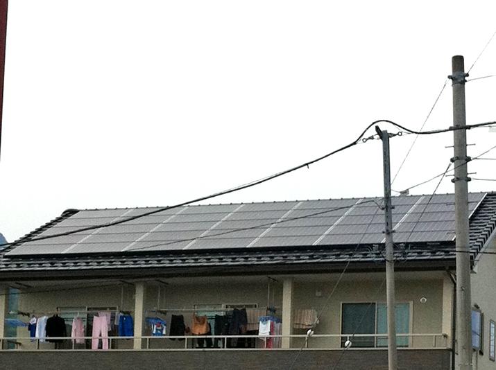太陽光発電施工画像2【笛吹市 N様邸】