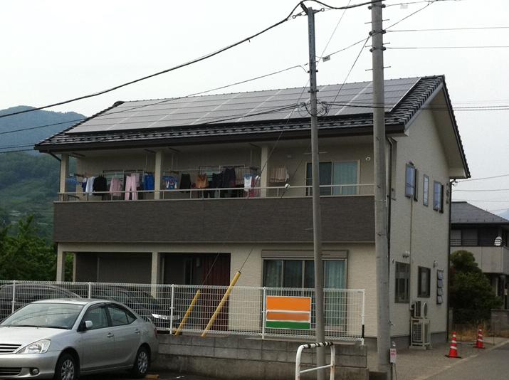 太陽光発電施工画像1【笛吹市 N様邸】