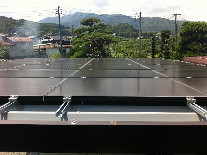 太陽光発電施工画像2【笛吹市 K様邸】