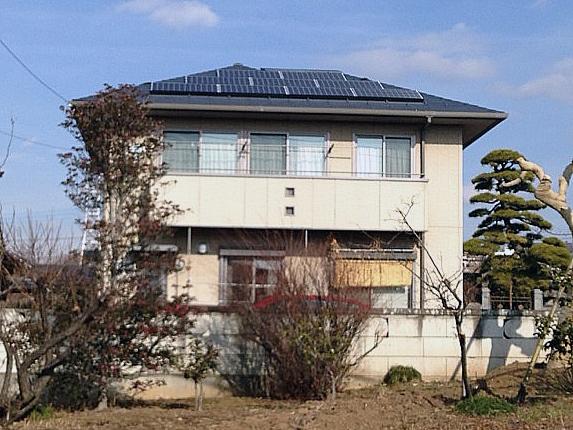太陽光発電施工画像1【甲斐市 N様邸】