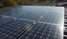 太陽光発電 折板屋根設置後写真