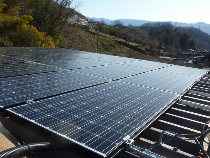 太陽光発電施工画像2【山梨市 M様邸】