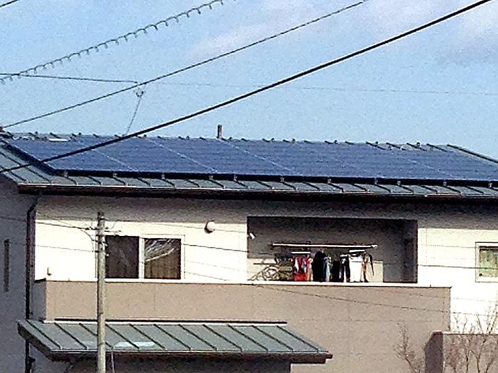 太陽光発電施工画像2【南アルプス市 T様邸】