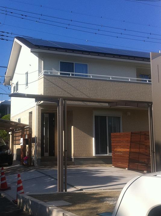 太陽光発電施工画像2【甲府市 S様邸】