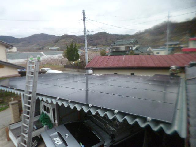 太陽光発電施工画像2【山梨市 K様邸】