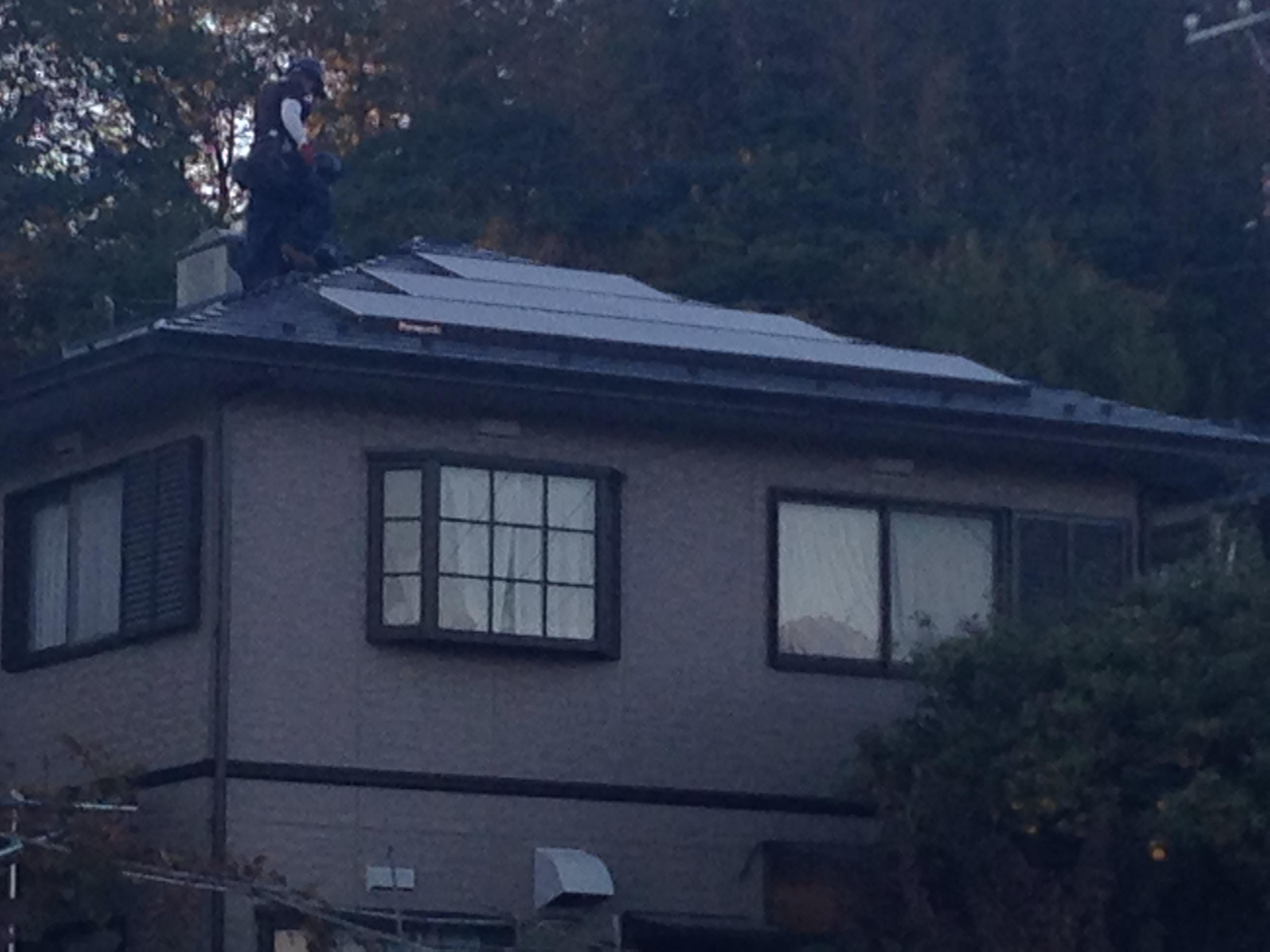 太陽光発電施工画像2【甲斐市 A様邸】