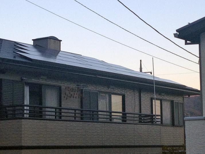 太陽光発電施工画像1【甲斐市 A様邸】