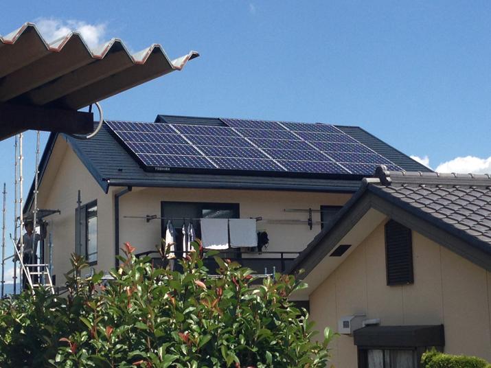 太陽光発電施工画像1【韮崎市 Y様邸】