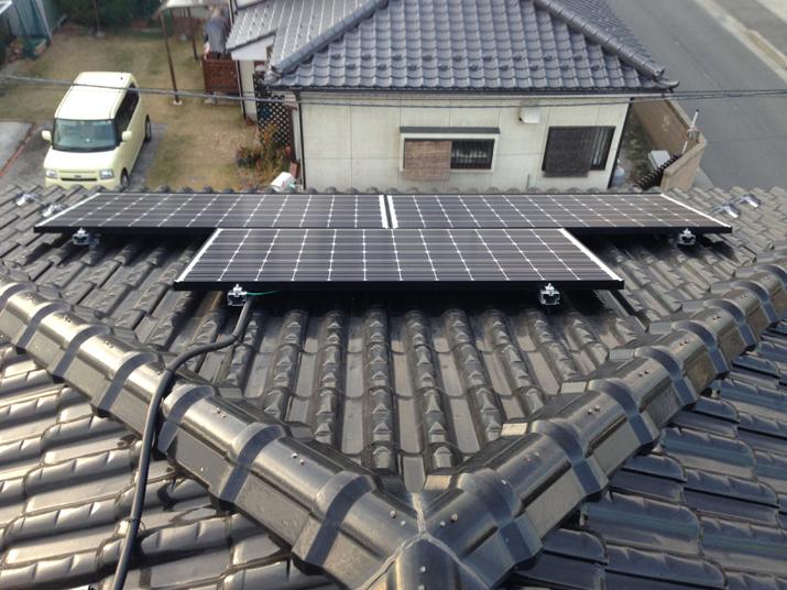 太陽光発電施工画像2【南アルプス市 N様邸】