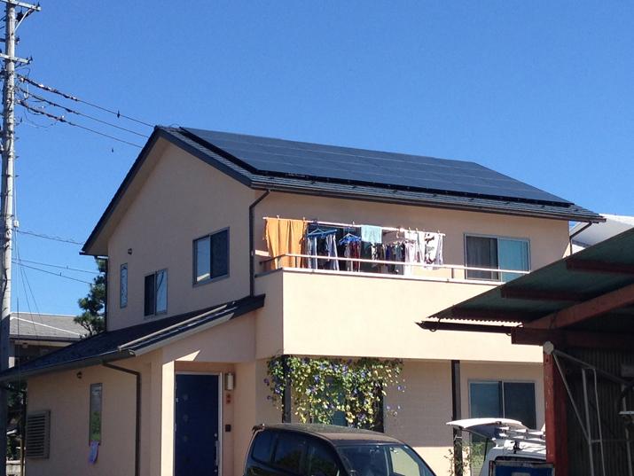 太陽光発電施工画像1【南アルプス市 F様邸】