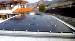 甲州市 ソーラーフロンティア太陽光施工事例写真