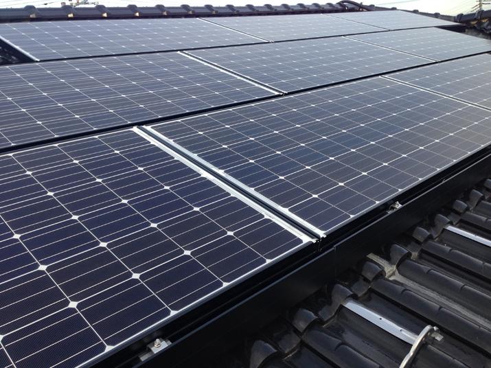 太陽光発電施工画像1【南アルプス市 N様邸】